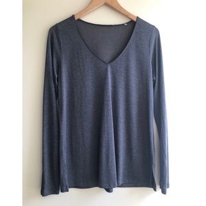 Blue Gray Long Sleeve Top